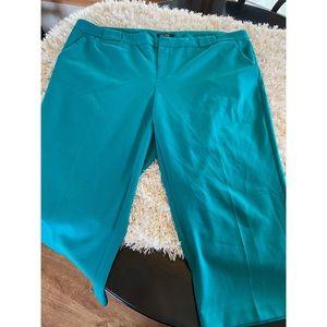 Daisy Fuentes Teal Dress Capri Pants Size 18W